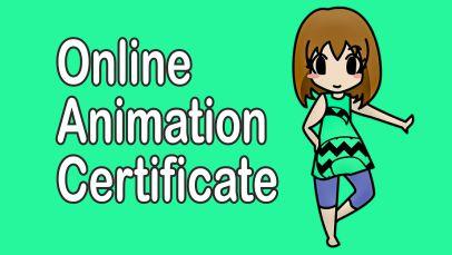 online animation courses, certificates